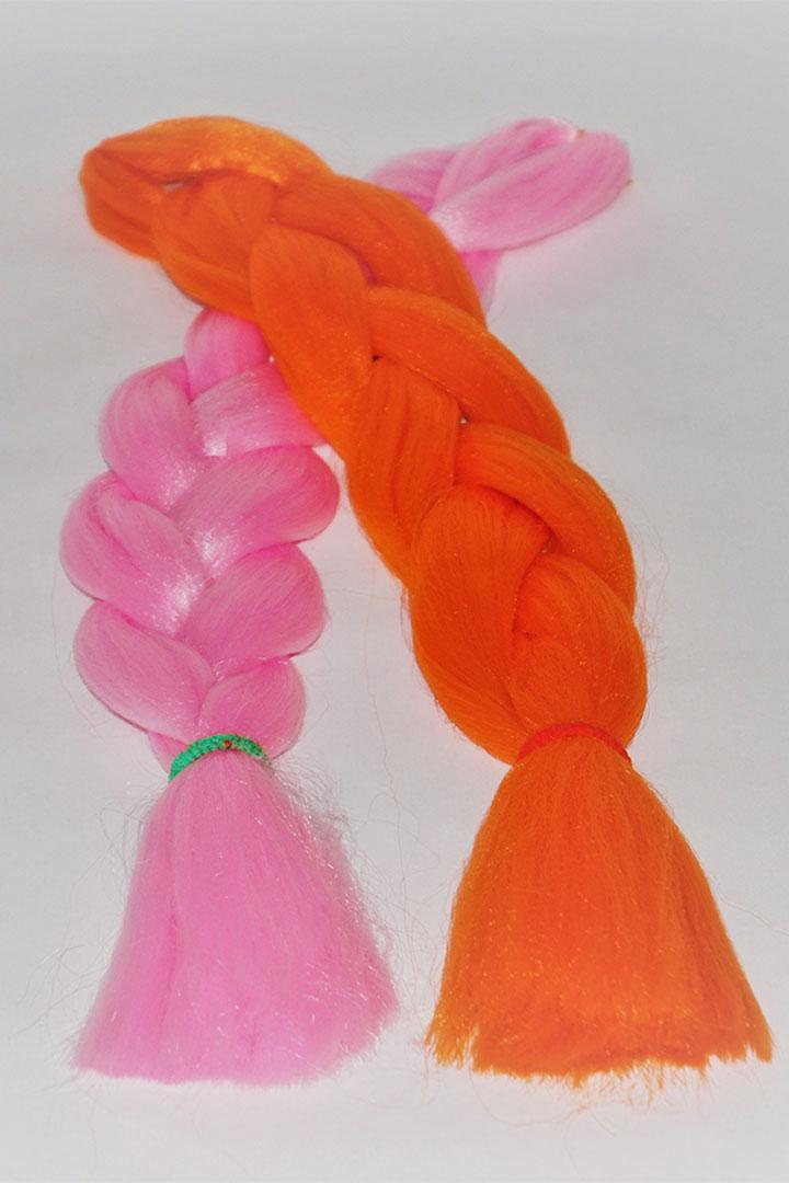 Fibra kanekalon de un color