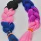 Fibra kanekalon de 3 colores