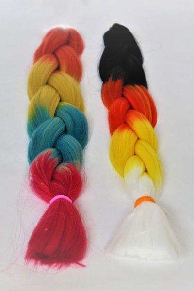 Fibra kanekalon de 4 colores