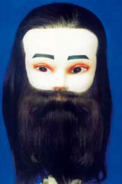 Cabeza de maniquí con barba