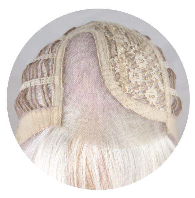 Base de tul frontal parcial de la colección de pelucas The Orchid
