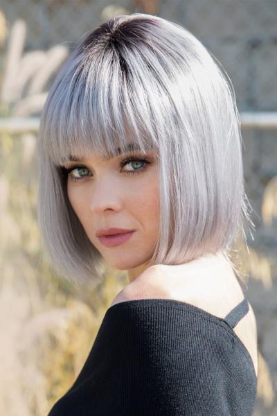 Peluca Nico de cabello sintético, color Smoky Gray R