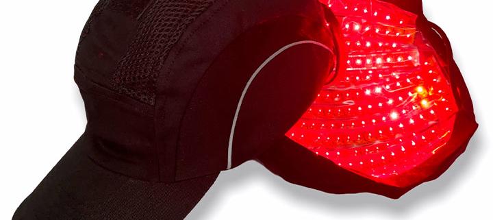gorra con tecnología láser