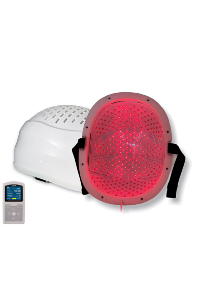 láser helmet con mando a distancia